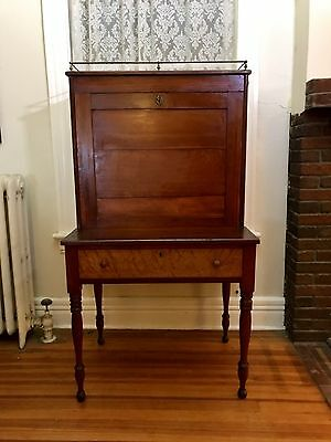 "Antique Plantation Desk With Key Two Part 31"" x 22"" x 57"" RARE Spectacular Piece"