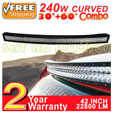 42 inch 240W Led barre Curved Light Bar Rampe offroad UTE Flood Spot Combo lamp