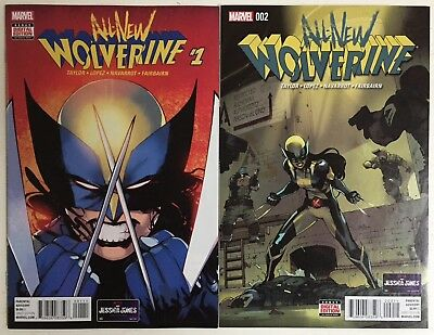 ALL-NEW WOLVERINE #1-2 (Marvel 2016) 1st Appearances X-23 Wolverine-Gabby-VF/NM