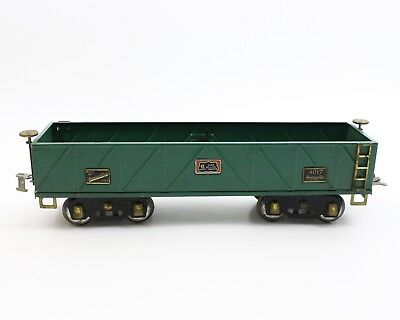 American Flyer Prewar Wide Standard Gauge 4017 6 Million Green Sand Car Gondola