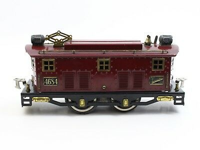 American Flyer Prewar Wide Standard Gauge 4684 Maroon Electric Locomotive Nice