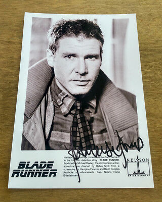 Blade Runner 1982 Harrison Ford Signed Autograph Re-Print Movie Poster A4 Size