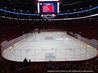 (2) Montreal Canadiens vs San Jose Sharks Tickets 01/02