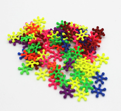 100/1000PCs Mixed Snowflake Acrylic Spacer Beads For Kid DIY Jewelry Making 15mm
