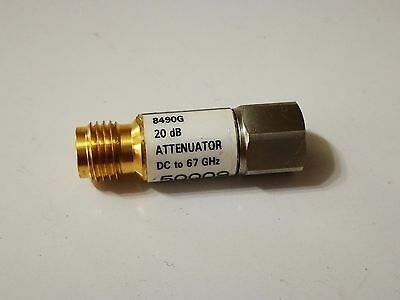Agilent 8490G 20 dB Coaxial Fixed Attenuator, DC to 67 GHz   8490G 20 dB 8490G