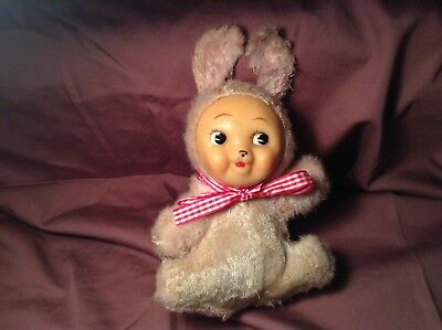 Vintage Rushton Type Baby Doll With Rabbit Ears