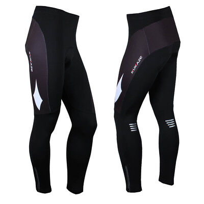 Men's Fleece Thermal Cycling Pants Padded Bike Bicycle Outdoor Sports Tights XXL