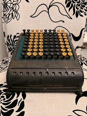 Vintage Burroughs Calculater Serial Number 427197 in Working Condition