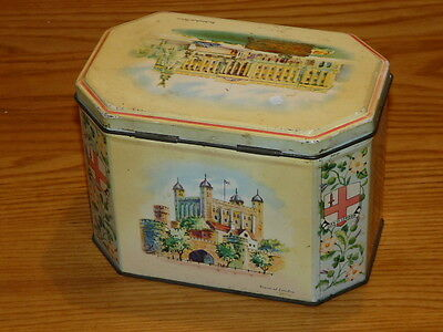 Vintage HUNTLEY & PALMERS BISCUITS Tin - Made in England