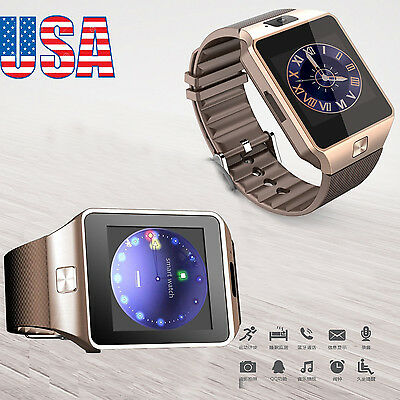 DZ09 Bluetooth Smart Watch Phone + Camera SIM Card For Android IOS Phones US
