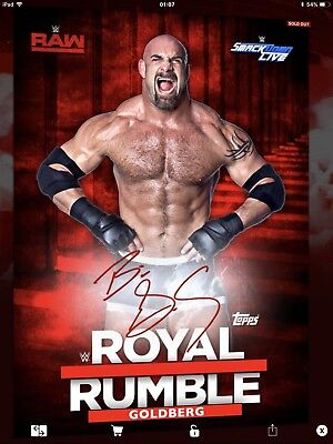 Topps WWE Slam Digital,  Signature,  Goldberg