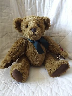 """Russ Berrie Bear Vintage Edition 14"""" Brown Jointed Chadfield NWT MSRP $35"""
