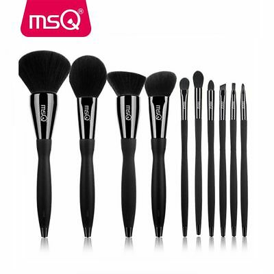 PRO 10Pcs Powder Makeup Brush Set Eyeshadow Eyeliner Lip Brush Cylider Case Tool