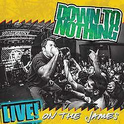 """New Music Record Down To Nothing """"LIVE! On The James"""" LP"""