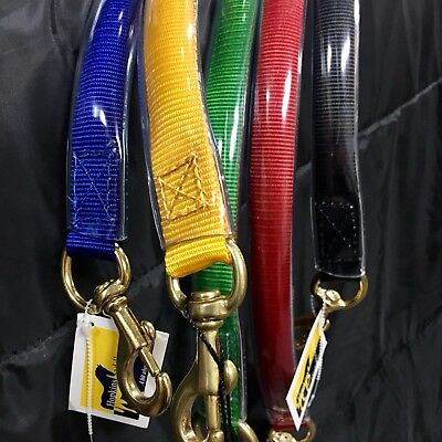 Horse Float Stall Tie Up Lead With 1 Inch Brass Snap In Your Racing Colours