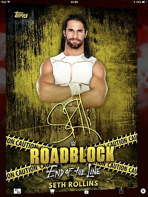 Topps WWE Slam Digital,  Signature,  Seth Rollins