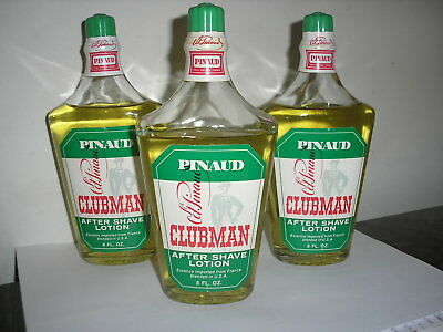 Lot of 3 Vintage Ed Pinaud Clubman 8 oz each After Shave Lotion glass bottles