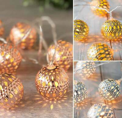 Moroccan Ball String Fairy Lights 10LED Battery Operated Decorations