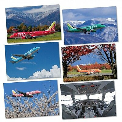 Fuji Dream Airlines Approved ERJ-170 Latest Six Postcard Set Nos: 1-6 Reduced