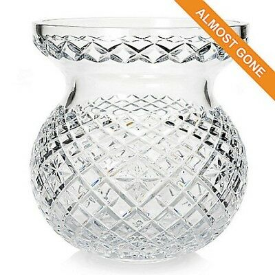 "Waterford Crystal Heritage 9"" Diamond & Wedge Cut Bouquet Vase (NEW in BOX)"