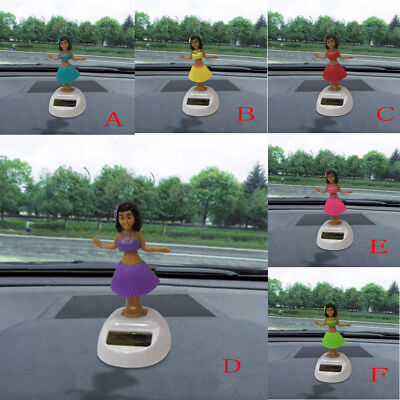 Hawaii Girl Car Solar Powered Dancing Animal Swinging Animated Bobble Dancer Car