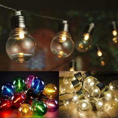 50 x Festoon Party Globe String Lights LED Garden Outdoors Lighting