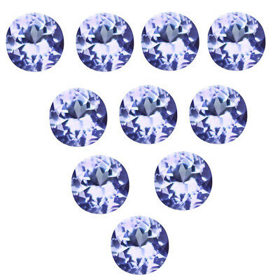 4.70 Ct (10Pcs) Flawless Sparkling Fire 100% Natural Violet Blue Tanzanite.