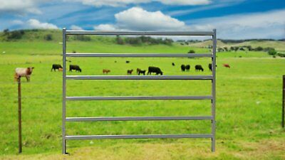 "Cattle Horse round Yard Panels 6 Oval Rails. Locking Pins. ""NEW"""