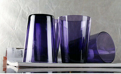 Simple Lead-Free Glass Height 11.5 CM Capacity 350ml Cup 4 Pieces Purple