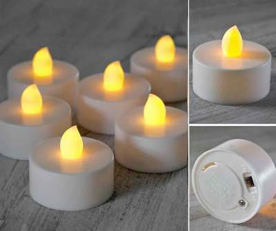 Flameless LED Tea Light Candle x 4/12/24/48 Tealight Warm White Battery Wedding