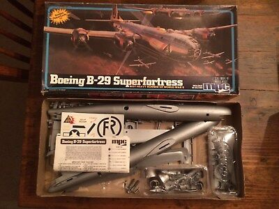 Lot Plastic Model Airplanes MPC Boeing B29 ITC Curtiss Condor Hawk Gee Bee Racer
