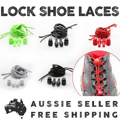 Elastic Shoe Lock Laces - Speed Laces - Free Postage Australia Wide
