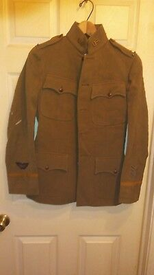 Rare! Wwi U.s. Army Biplane Fighter Pilot's Jacket W/early Bullion Wing Patch