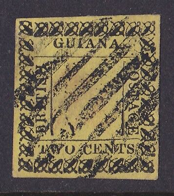 BRITISH GUIANA 1862 type-set 2c yellow signed