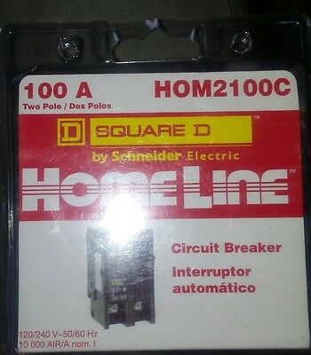 10 Square D Homeline Hom2100C Hom2100 2-Pole 100A Breaker New In Package