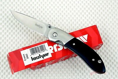 * 3160  Kershaw Crown Pocket Knife black micarta handle *new * knives