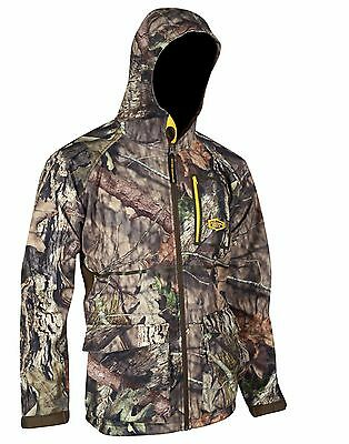 Yukon Gear Waylay Mens Mossy Oak Breakup Camo Soft Shell Hunting Jacket Medium