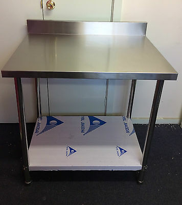 New Stainless Steel Kitchen Bench with splash back 500x600x900