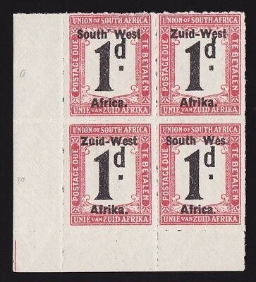 "SOUTH WEST AFRICA 1923 Setting I Postage Due 1d block VARIETY ""WES """