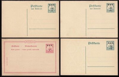 CAMEROON BRITISH OCCUPATION 1915 CEF Yacht Postcards X 4 ONLY 1000 EACH PRINTED!