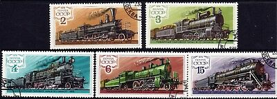 TRAINS on stamps. Russia 1979 Set of 5 CTO
