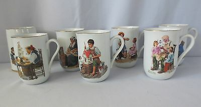 NORMAN ROCKWELL COLLECTOR MUGS CUPS MUSEUM COLLECTION VINTAGE Mint + 1
