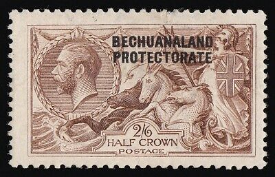 BECHUANALAND 1913  KGV Seahorses 2/6 MAJOR RE-ENTRY VARIETY with CERTIFICATE
