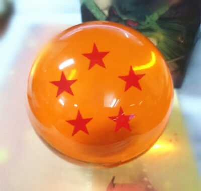 "Dragon Ball DragonBall Z Crystal Ball 5- Star Diameter 3""/7.5cm Ball New in Box"