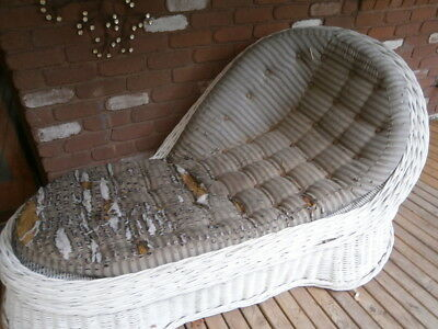 Wicker Chaise Lounge Antique and Rare