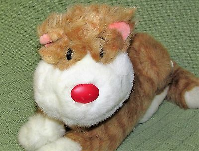 """SNICKLEFRITZ Big Comfy Couch Vintage Cat 12"""" Plush Stuffed 1995 Striped Tabby"""