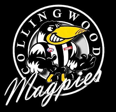 Collingwood Magpies AFL Cartoon Emblem Sticker or Magnet