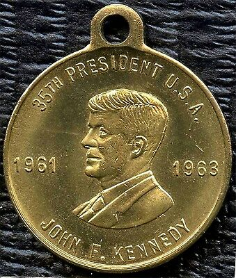 1963 JFK Pendant With Kennedy Center (9.3 Grams 28mm x 34mm)
