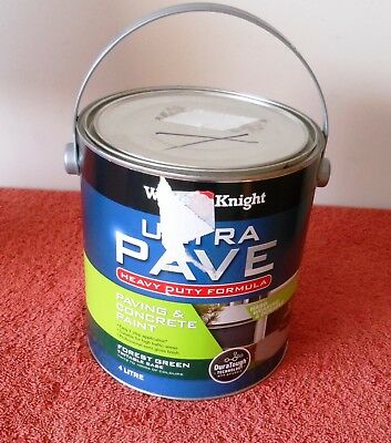 4 Litre White Knight Forest Green Ultra Pave Heavy Duty Paving & Concrete Paint
