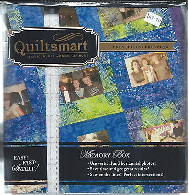 Quiltsmart Memory box, with Printed Interfacing Panels
